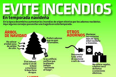 Infografia evite incendios en temporada navide a candidman for Adornos navidenos que se pueden hacer en casa