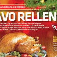 #Infografía Gastronomía Navideña en México: Pavo relleno