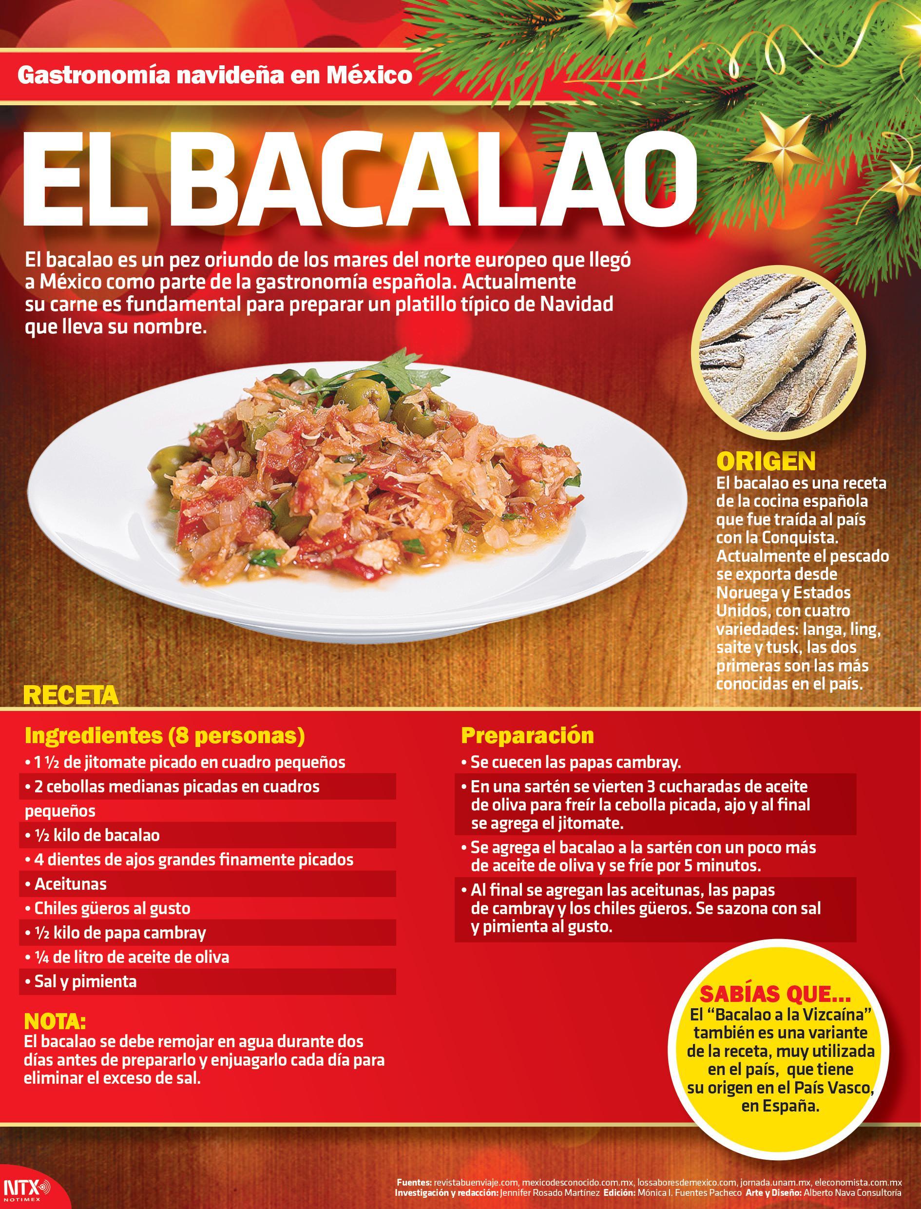 Infograf a gastronom a navide a en m xico el bacalao - Cocina navidena espanola ...