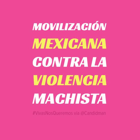 20160424 VivasNosQueremos Movilización Mexicana contra la violencia machista - @Candidman
