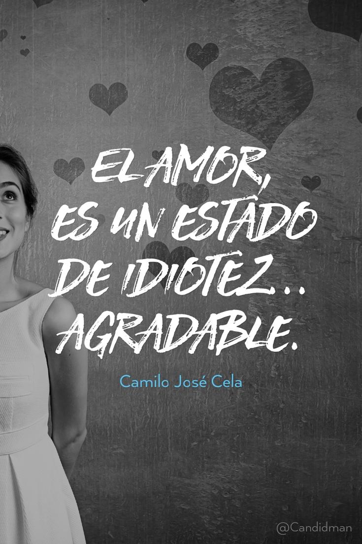 20160825 El amor, es un estado de idiotez... agradable. - Camilo José Cela @Candidman pinterest