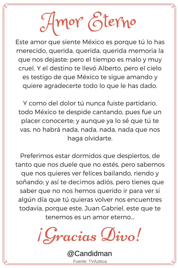 20160905 Amor Eterno - Juan Gabriel - @Candidman