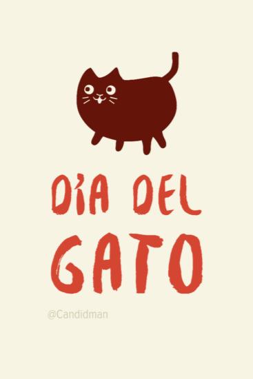 20170808 #DiaInternacionalDelGato Día del Gato - @Candidman Pinterest