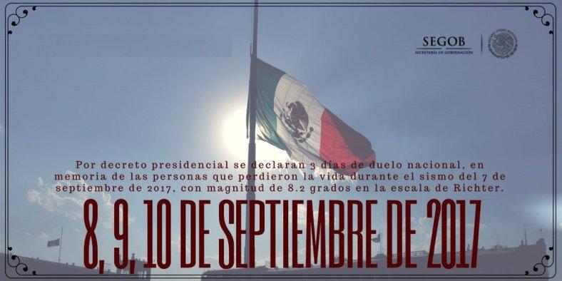 20170908 Mexico - Luto Nacional